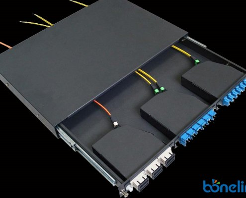 1u mpo patchpanel BMPC5563 495x400 - MPO Full Loaded SC Adapter Patch Panel with MPO Cassette Units BD-C666