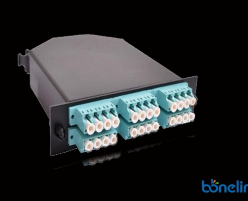 24 ports om3 MTP Casstte BOMCS6897 495x400 - MPO Full Loaded SC Adapter Patch Panel with MPO Cassette Units BD-C666