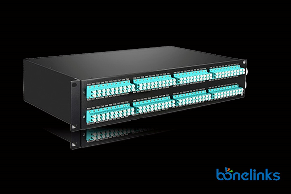 2u om3 mtp patchpanel BMOP2274 - MTP/MPO OM4 100G 2U LC Duplex Breakout Patch Panel BD-C660