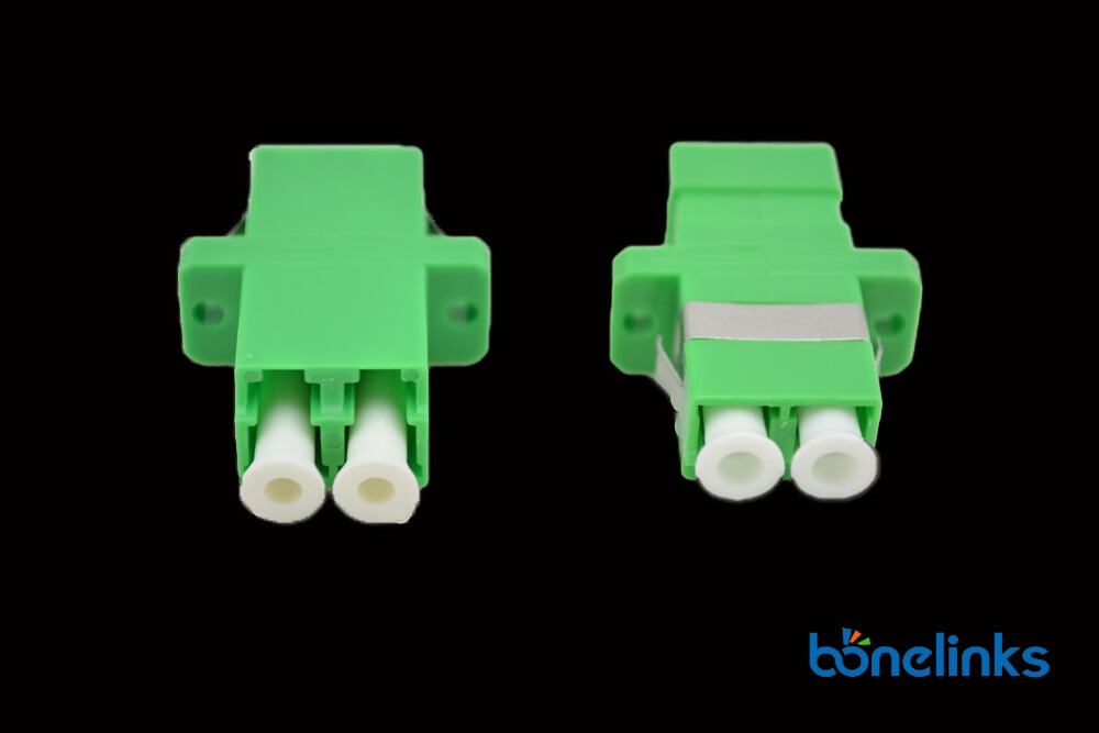 Fiber Optics Adapter LCAPC Duplex BW A223 - Fiber Optical Adapter LCAPC Duplex Green BW-A223