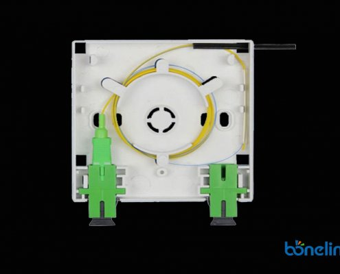 Fiber Optics Faceplate with SCAPC Adapters BW A510 495x400 - Wall Mount SC Ports Fiber Optics Faceplate BW-A510