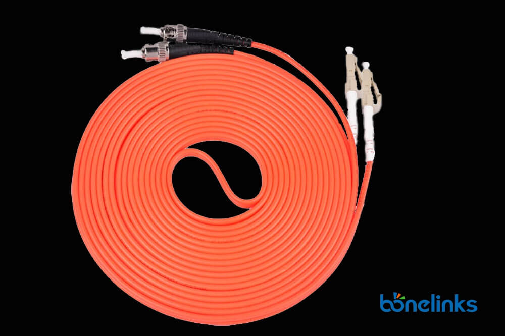 LC to ST MM DX OFNP BW P686 - Optical Fiber Patch Cable LC to ST Multimode Duplex OM2 OFNP BW-P686