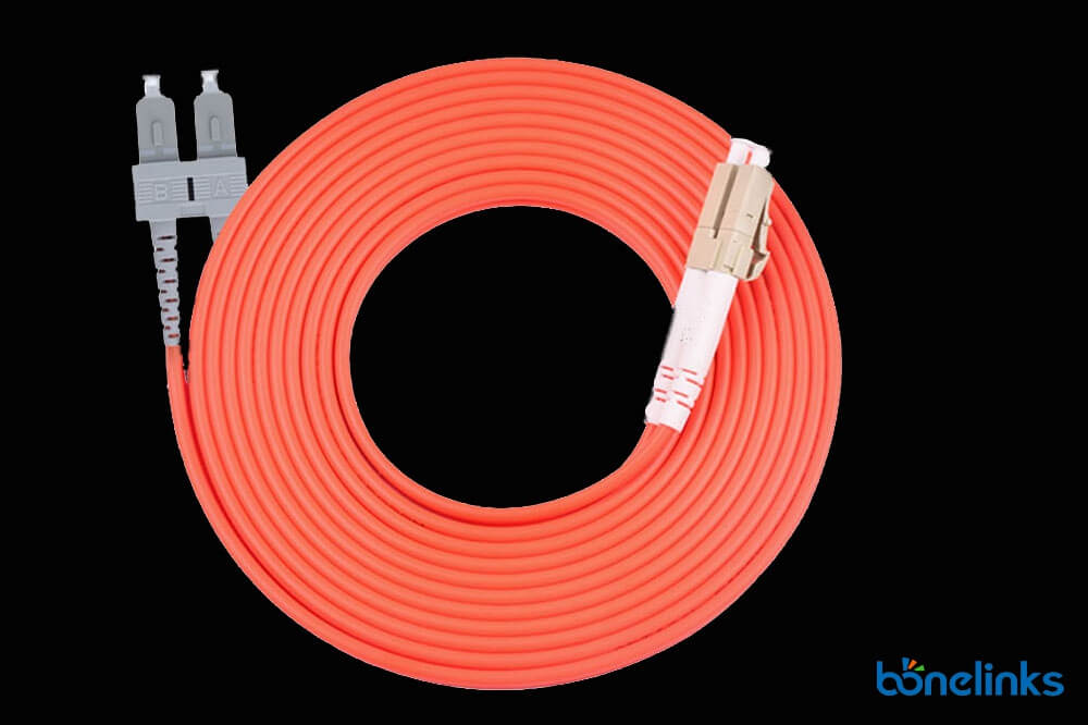SC to LC DX MM OM2 BW P690 - Fiber Optical Zipcord SC to LC Multimode Duplex OM2 LSZH BW-P690